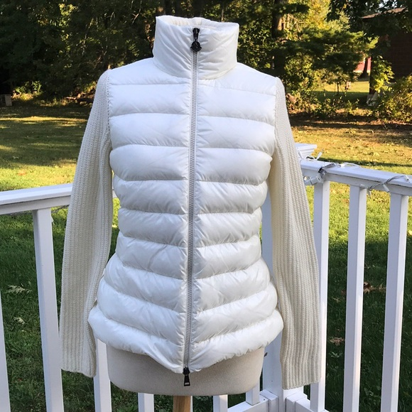 Moncler Maglione Down Knit Cardigan jacket NWT